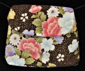 Boon Decor Mini Shoulder Bag - ID/Cell Phone/Cosmetic Purse Japanese Kimono Silk