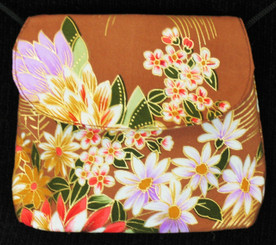 Boon Decor Mini Shoulder Bag - Cell Phone/ID/Cosmetic Purse Japanese Kimono Silk