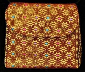 Boon Decor Mini Shoulder Bag - Cell Phone / ID / Cosmetic Purse Brocade Silk