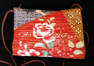 Boon Decor Shoulder Bag - Japanese Kimono Silk Purse SEE COLORS and PATTERNS