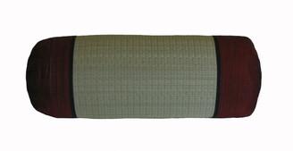 Boon Decor Bolster Pillow -Tatami and Burmese Silk Burgundy