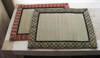 Boon Decor Altar Mat or Place Mat - Tatami w/Silk Jewel Brocade Trim - Reversible