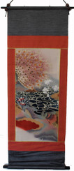 Boon Decor Wall Hanging - Antique Silk Japanese Kimono Artists Proof One of a Kind #10