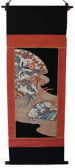 Boon Decor Wall Hanging - Antique Silk Japanese Kimono Artists Proof One of a Kind #4