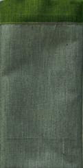 Boon Decor Silk Napkins - Burmese Silk Silk Napkins - Set of 6 - Sage Green w/Celadon Green Trim