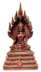 Boon Decor Buddha Figurine Sitting in Earth Mudra w/Nagga Hood - 9 Resin