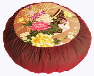 Boon Decor Meditation Pillow Japanese Kimono Silk Print Zafu SEE COLOR CHOICES