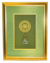 Boon Decor Shadow Box Art Amitayus Long Life Buddha - Eternal Knot Symbol