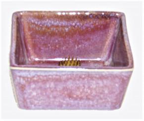 Boon Decor Ikebana Bowl - Lavender Dipped Glaze Rectangle Porcelain
