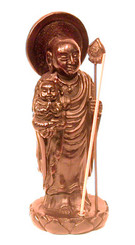 Boon Decor Incense Holder - Jizo Monk with Child