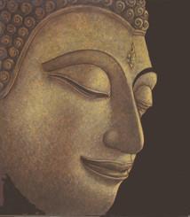 Boon Decor Buddha Painting - Original Oil on Canvas - Sukothai Style 14 X 16