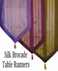 Boon Decor Table Runner or Wall Hanging - Classic Brocade Fabric 15.5 x 75 SEE COLORS