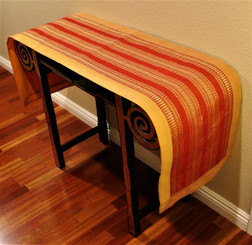 Boon Decor Table Runner Wall Hanging Classic Brocade One of a Kind Saffron Orange 74x16.5