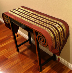 Boon Decor Table Runner Wall Hanging Classic Brocade One of a Kind - Burgundy 82x15.5