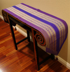 Boon Decor Table Runner Wall Hanging One of a Kind Classic Brocade Fabric Purple/Magenta 75X15.5