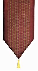 Boon Decor Table Runner Wall Hanging Silk Blend Global Weave - Rust 74x13