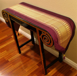 Boon Decor Table Runner Wall Hanging Classic Brocade One of a Kind Magenta Mauve 76x13.5
