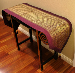 Boon Decor Table Runner Wall Hanging Classic Brocade One of a Kind Magenta Purple 80x16.5