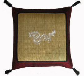 Boon Decor Tatami Throw Pillow - Embroidered Dragon SEE COLORS