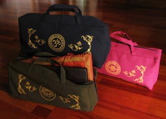 Boon Decor Meditation Accessory Tote Bag - Cotton Canvas Silkscreen Symbol SEE CHOICES
