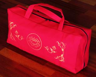 Boon Decor Canvas Tote Bag for Meditation Bench Lotus Enlightenment Fuschia