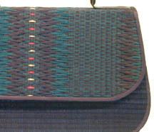 Boon Decor Handbag - Woven Tatami - Green/Black