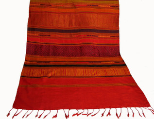 """Boon Decor Silk Wall Hanging- Hand Loomed - One-of-a-Kind 76"""" x 28.5"""""""