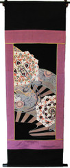 Boon Decor Wall Hanging - Antique Silk Japanese Kimono Artists Proof One of a Kind #7