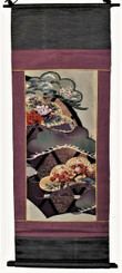 Boon Decor Wall Hanging - Antique Silk Japanese Kimono Artists Proof One of a Kind #5
