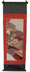 Boon Decor Wall Hanging - Antique Silk Japanese Kimono Artists Proof One of a Kind #2