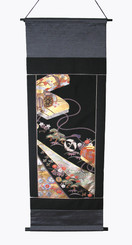 Boon Decor Wall Hanging - Antique Silk Japanese Kimono Artists Proof One of a Kind #8