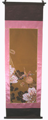 Boon Decor Wall Hanging - Antique Silk Japanese Kimono Artists Proof One of a Kind #11