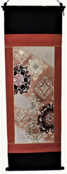 Boon Decor Wall Hanging - Antique Silk Japanese Kimono Artists Proof One of a Kind #6