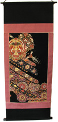 Boon Decor Wall Hanging - Antique Silk Japanese Kimono Artists Proof One of a Kind #12