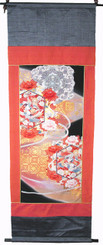 Boon Decor Wall Hanging - Antique Silk Japanese Kimono Artist Proof One of a Kind #1