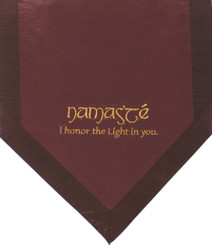 Boon Decor Altar Cloth Or Wall Hanging - Embroidered - Namaste - Brown