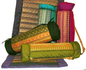 Boon Decor Yoga Mat - Quilted Polished Cotton Indochine Style Fabric 70 x 24 SEE CHOICES