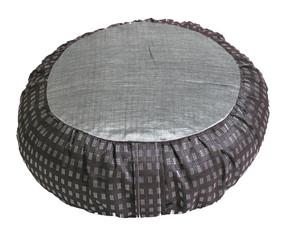 Boon Decor Meditation Cushion Zafu Pillow Global Weave Gray 16 dia 6 loft