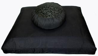 Boon Decor Black Zabuton Zen Meditation Cushion Set - Black on Black - SEE CHOICES