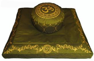 Boon Decor Meditation Cushion Set Zafu Pillow and Zabuton Om Lotus Wreath SEE COLORS