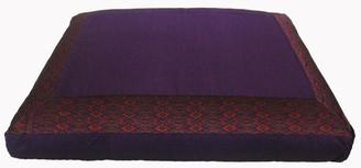Boon Decor Zabuton Meditation Floor Mat Cushion - Purple Ikat Print