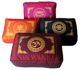 Boon Decor Meditation Cushion Rectangular Zafu Dharma Key SEE SYMBOLS and COLORS
