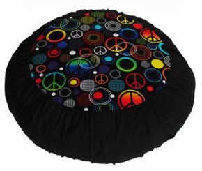 Boon Decor Meditation Cushion - Limited Edition Retro Collection Zafu Peace and Love
