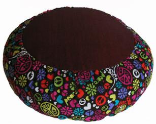 Boon Decor Meditation Cushion Pillow Zafu Rare Find Fabric Love and Peace SEE PATTERN CHOICES