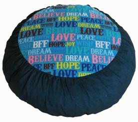 Boon Decor Meditation Cushion Zafu Rare Find Fabric - Hope and Dream