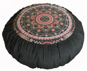 Boon Decor Meditation Cushion Rare Find Fabric Zafu Silence of the Spirit Medallion SEE COLORS