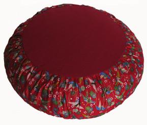 Boon Decor Meditation Cushion Zafu Limited Edition -Rare Find Fabric Origami Peace Crane