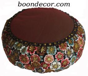 Boon Decor Meditation Cushion - Limited Edition Zafu - Oriental Imperial Dawn Collection