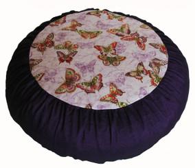 Boon Decor Meditation Cushion Zafu - Limited Edition - Rare Find Fabric - Butterflies Are Free