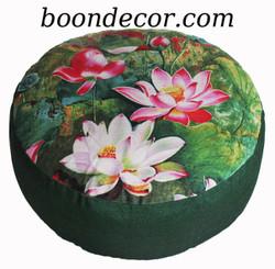 Boon Decor Meditation Cushion Combination Fill Zafu Limited Edition Lotus Garden